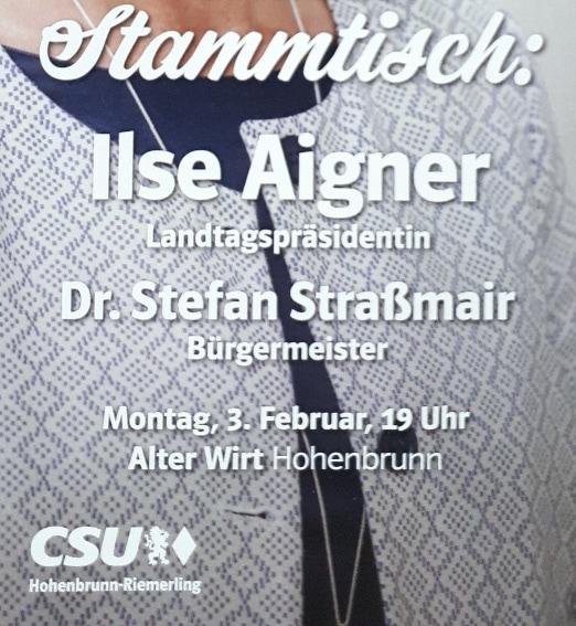 Ilse Aigner blamiert die Hohenbrunner CSU